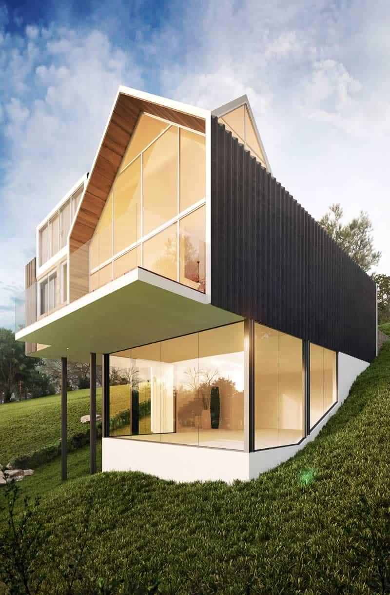 Casa Sustentável em Gramado Fundos